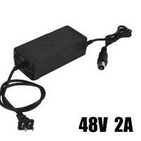 Прочный и практичный экологический 36 В 2A/48 В 2A литиевая батарея зарядное устройство для электромобиля встроенный Умный вентилятор