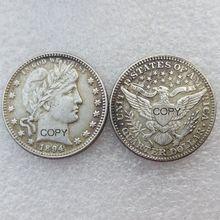 США Парикмахерская четверть долларов 1894 разных мятных посеребренных копировальных монет