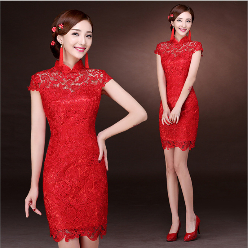 Image 5 - Women Dress Elegant Women Weeding Party Dresses Chinese Evening Sexy Dress Bodycon Lace Dresses Plus Size Vestidos Verano 2019-in Dresses from Women's Clothing