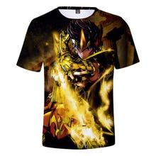 Camiseta con estampado 3D de Saint Seiya para hombre y mujer, camisetas de manga corta para niño y mujer, camisetas informales de Saint Seiya
