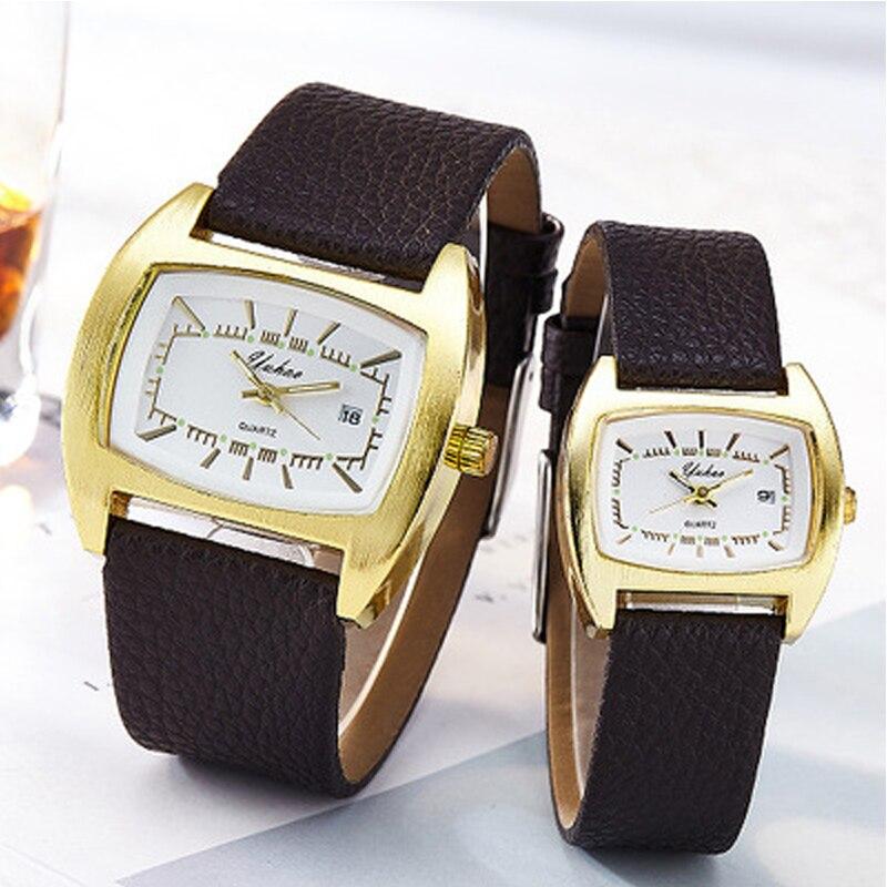 Luxury Couple Watch Golden Fashion Stainless Steel Lovers Watch Quartz Wrist Watches For Women & Men Analog Wristwatch