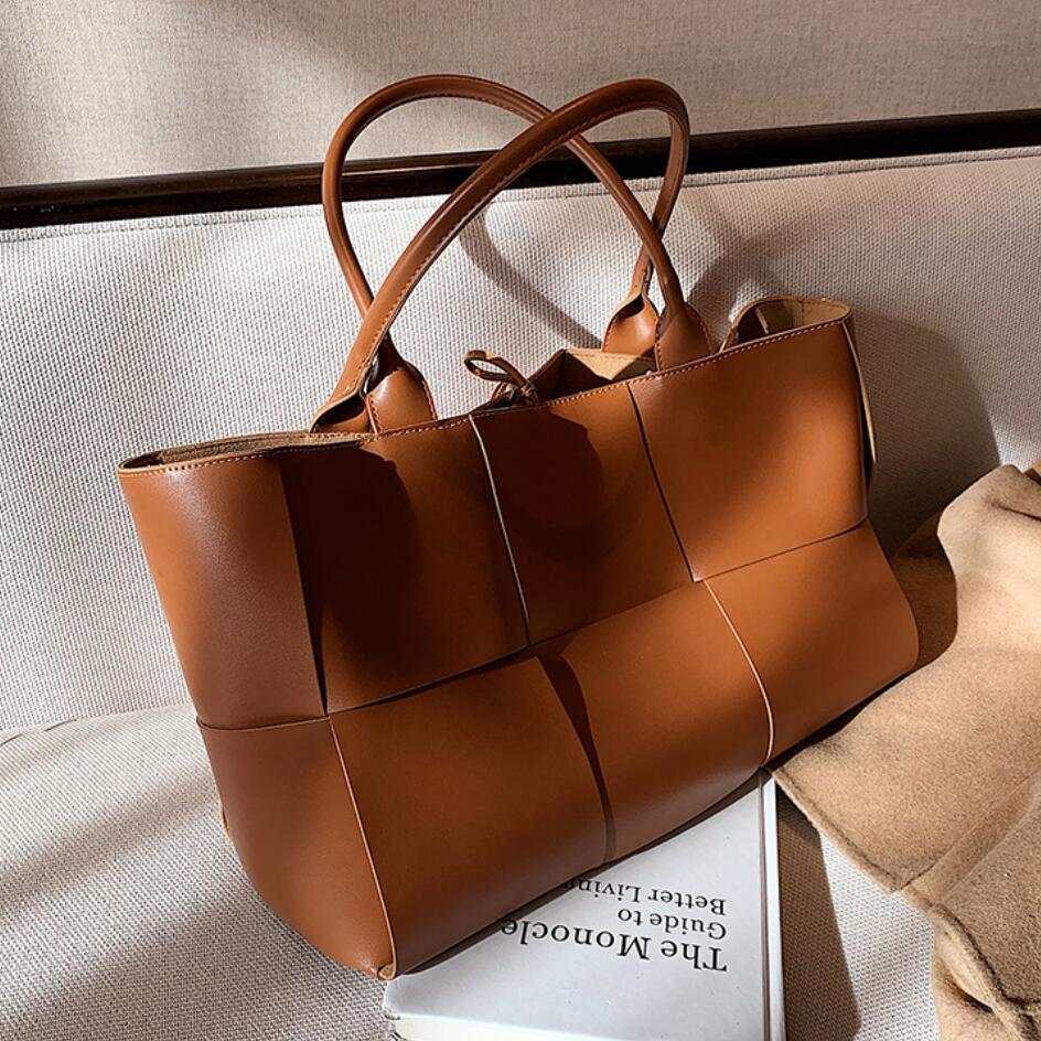 Luxus Marke Große Weave Tote tasche 2021 Mode Neue High-qualität PU Leder frauen Designer Handtasche Hohe kapazität schulter Taschen