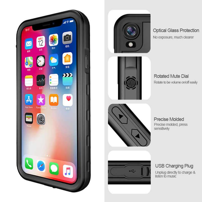 Étanche étui pour iPhone X XS Max XR Antichoc Natation Plongée Coque Pour iPhone X XR XS 6 6S 7 8 Plus caisson étanche