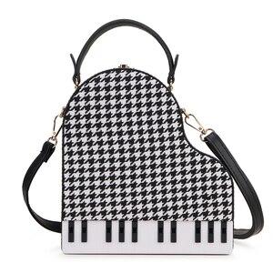Image 2 - Fashion Piano Style Ladies Box Shape Party Handbag Shoulder Bag Purses Pu Leather Female Crossbody Bag for Women Designer Bag
