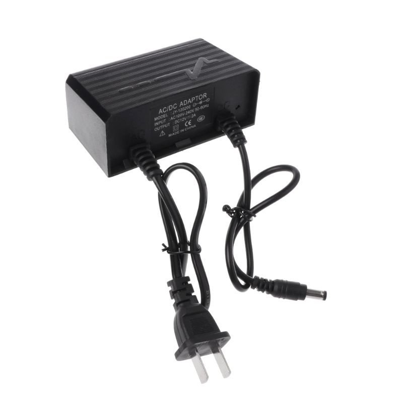 Power Supply AC DC Charger Adapter 12V 2A EU US Plug Waterproof Outdoor For Monitor CCTV CCD Security Camera LX9A