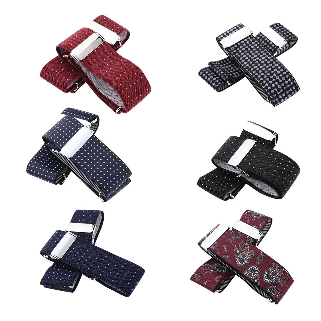 Elastic Adjustable Armband Sleeve Garters Hold Anti-Slip Shirt Sleeve Holder Gentleman Formal Shirt Armband Sleeve Garter Holder