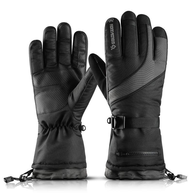 Men\'s Ski Gloves Snowboard Gloves Snowmobile Motorcycle Riding Winter Gloves Warm Fleece Motorcycle Snowmobile Riding Gloves