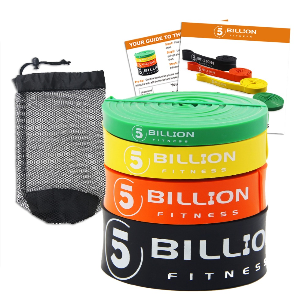 Heavy Duty Latex Fitness Resistance Bands Set Elastic Pull Up Loop Band for Strength Weight Training Power Exercise