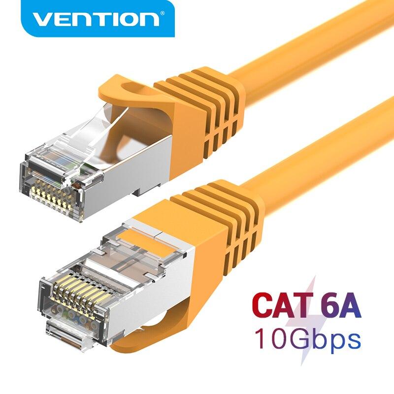 Vention CAT6A Ethernet Кабель SSTP RJ45 Lan Сетевой кабель 10 гигабит высокая скорость 500 МГц Cat6 патч-корд для модемного маршрутизатора кабель