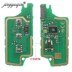 Image 2 - Jingyuqin для peugeot 407 407 307 308 607 Citroen C2 C3 C4 C5 ASK/FSK дистанционный ключ электронная плата 3 кнопки CE0523 Ce0536