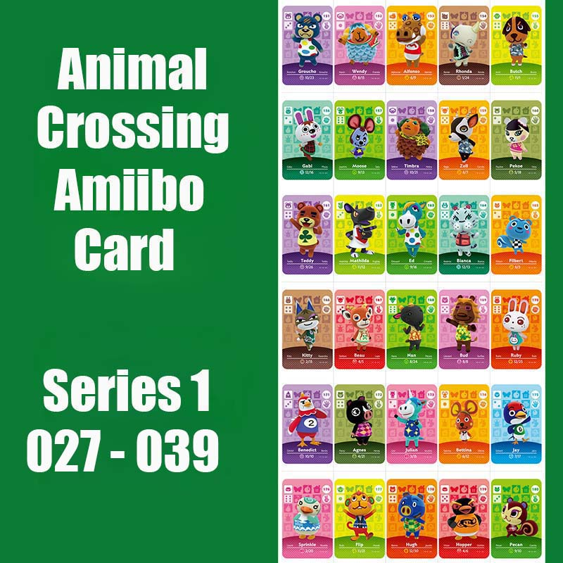 Series 1 (27 To 39) Animal Crossing Card Amiibo Card  Locks Nfc Card Work For Switch NS 3DS Games Animal Crossing Amiibo Card
