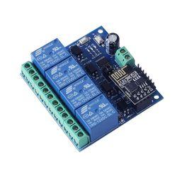 DC 12V ESP8266 i ESP-01 moduł przekaźnika WIFI cztery kanały do inteligentnego domu inteligentne meble