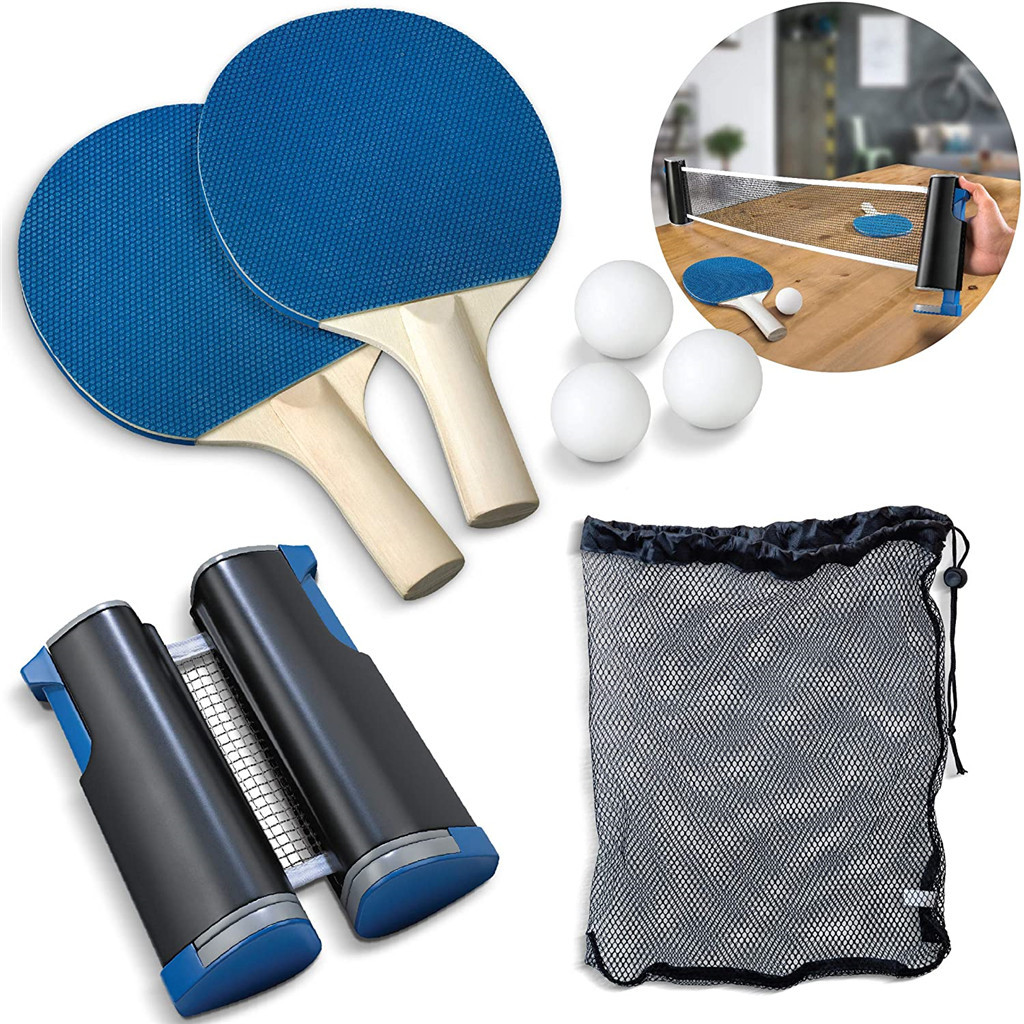 2020 New Removable Table Tennis Net Portable Anywhere Retractable Ping Pong Post Net Rack For Any Table Exercise Accessories
