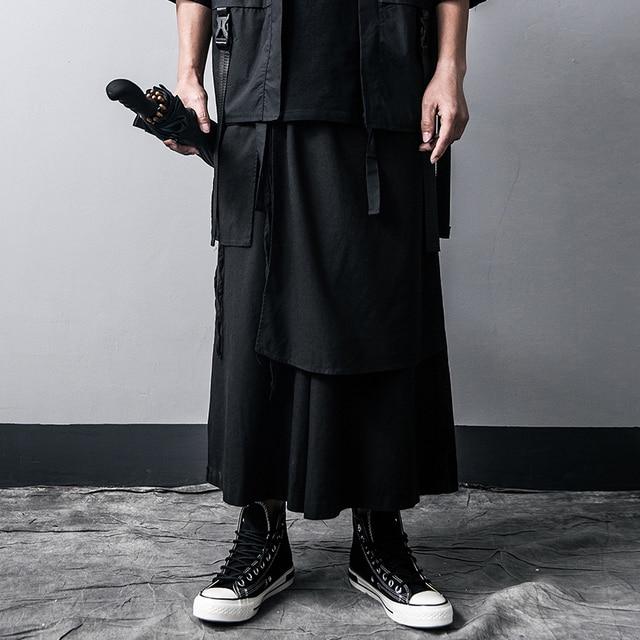 Men Casual Baggy pants Hip-hop Trouser Dancing Wide leg Pants Gothic Punk Style loose Pants Men 3