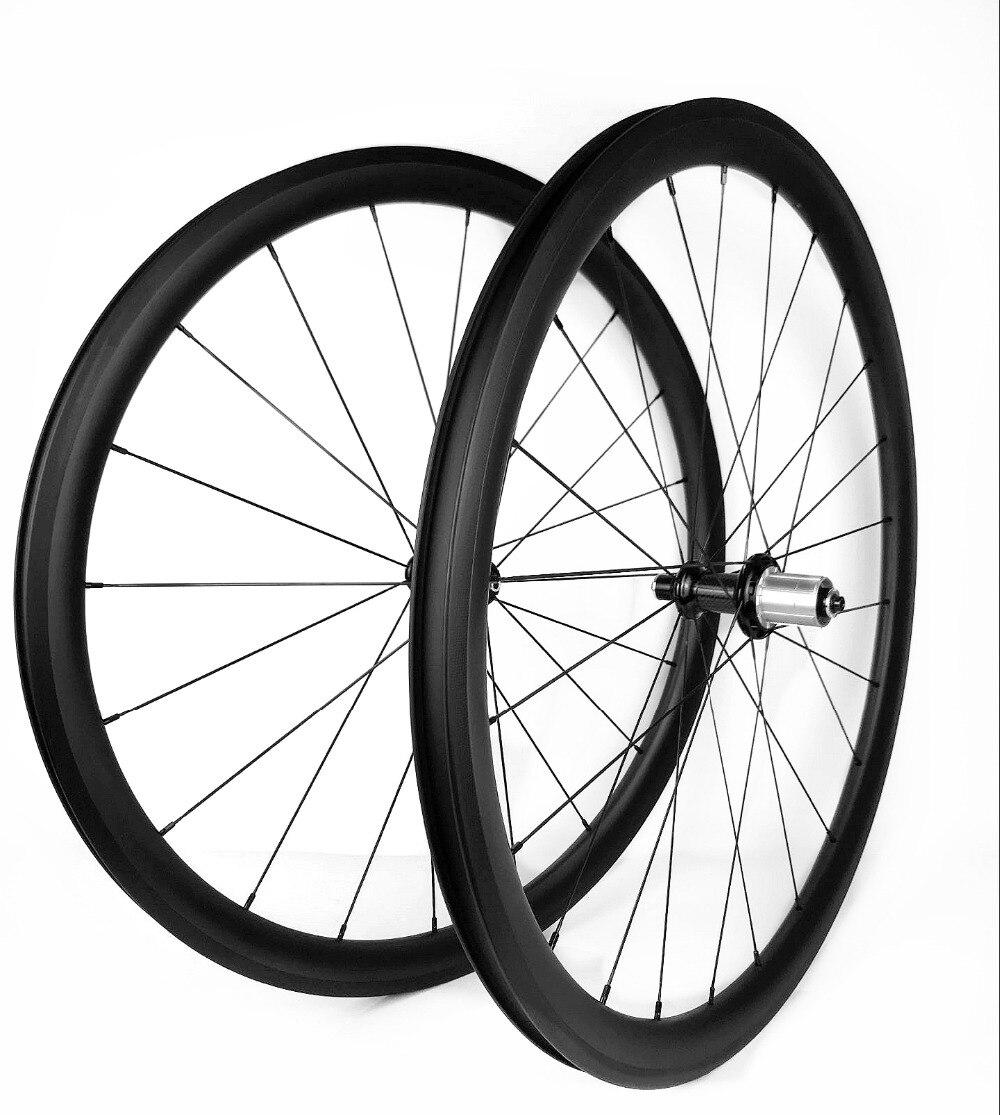Roues Ultra légères de carbone de vélo de route 38mm profondeur 25mm largeur pneu/paire de roues tubulaires avec la céramique de Powerway R36, sapim cx-ray a parlé