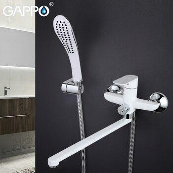 GAPPO Bathtub Faucet bathroom rainfall shower system Wall Mounted White Tap bathtub faucet bathroom waterfall bath mixer faucets