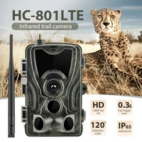 HC801 Lite 4G Hunting Camera 16MP Trail Camera SMS/MMS/SMTP IP66 Photo Traps 0.3s Trigger Time 940nm LEDs Wild Cameras 801A 801M