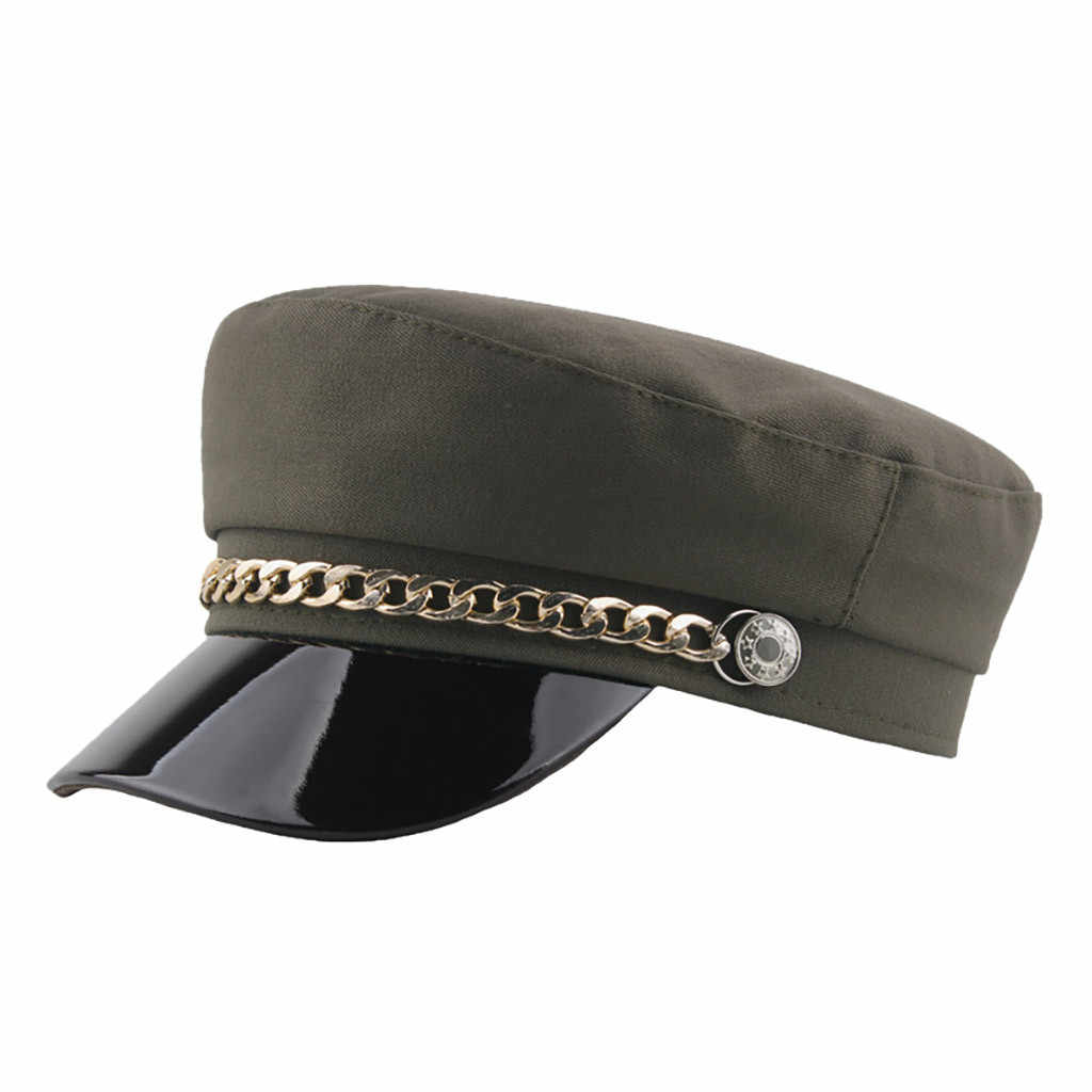 موضة خمر قبعة البيريه الخريف بحار قبعة للنساء أسود رمادي شقة أفضل الإناث السفر كاديت قبعة الكابتن قبعة القبعات # Y5