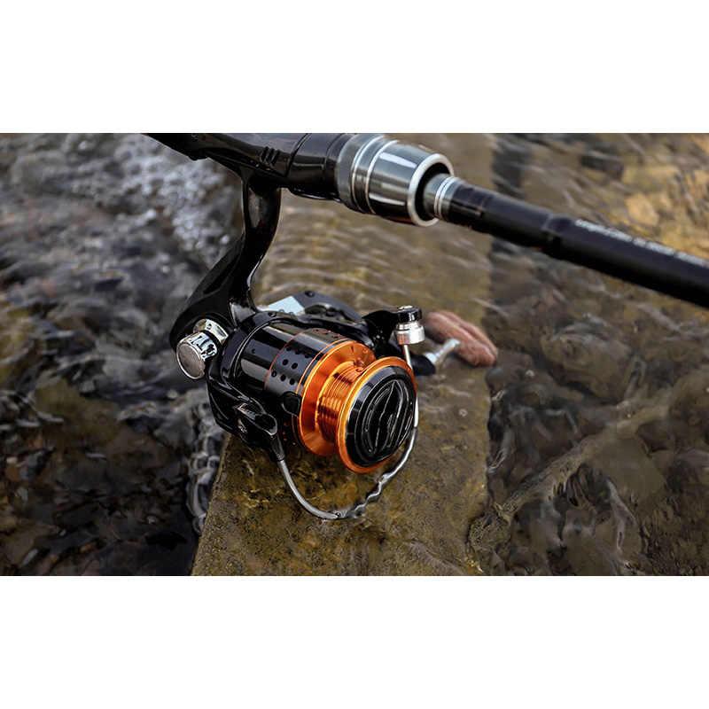Mulinello da Pesca LINNHUE, mulinello da Pesca in metallo senza spacco, resistenza massima di 8KG, mulinello da Spinning ad alta velocità 5.2:1