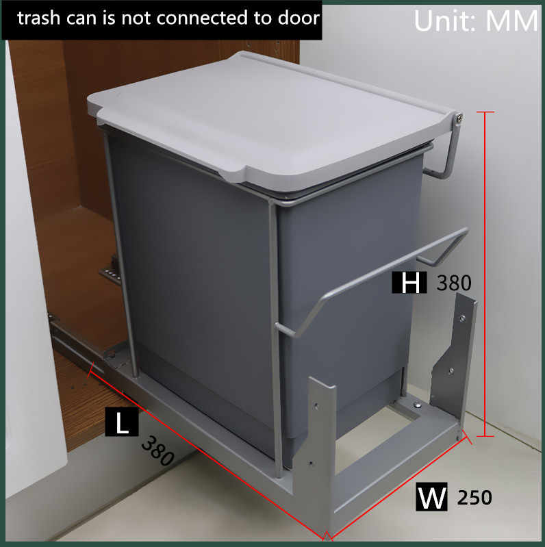 Built-in Kitchen Trash Can Waste Bin Hide Style Pull Out Dustbin Modern  Folding Kitchen Garbage Bins High Quality