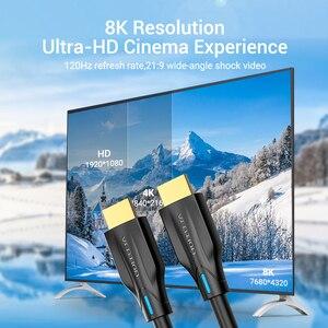 Image 3 - Vention Cable de HDMI 2,1 4K 120Hz 3D, alta velocidad, 48gbps, HDMI, para PS4, divisor, conmutador, caja extensora, Audio, vídeo, 8K, HDMI