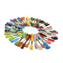 Много 50 хлопковых нитей для вышивки крестиком, шитье, моток пряжи, много цветов