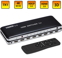 HDMI 2.0 7x1 Switch Switcher Audio Video Converter 7 in 1 out 3D 4K 60Hz for PS3 PS4 Computer PC DVD HD Players TV STB TO HDTV