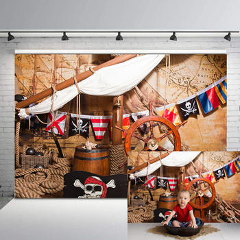 Pirate Ship Deck Navigation Photography Backgrounds Adventure Map Baby Shower Birthday Party Backdrop Floor Photo Backgrou