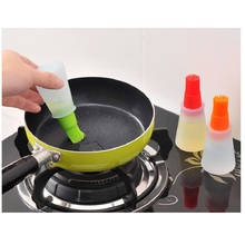 Kitchen Tools Silicone Rubber Oil Dispenser Bottle With Brush Baking Pastry  Pancake Honey Barbecue