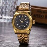 rolex- Luxury Brand quartz women Watches Quartz Watch Stainless Steel Strap wristwatch classic business dress men watch 7424