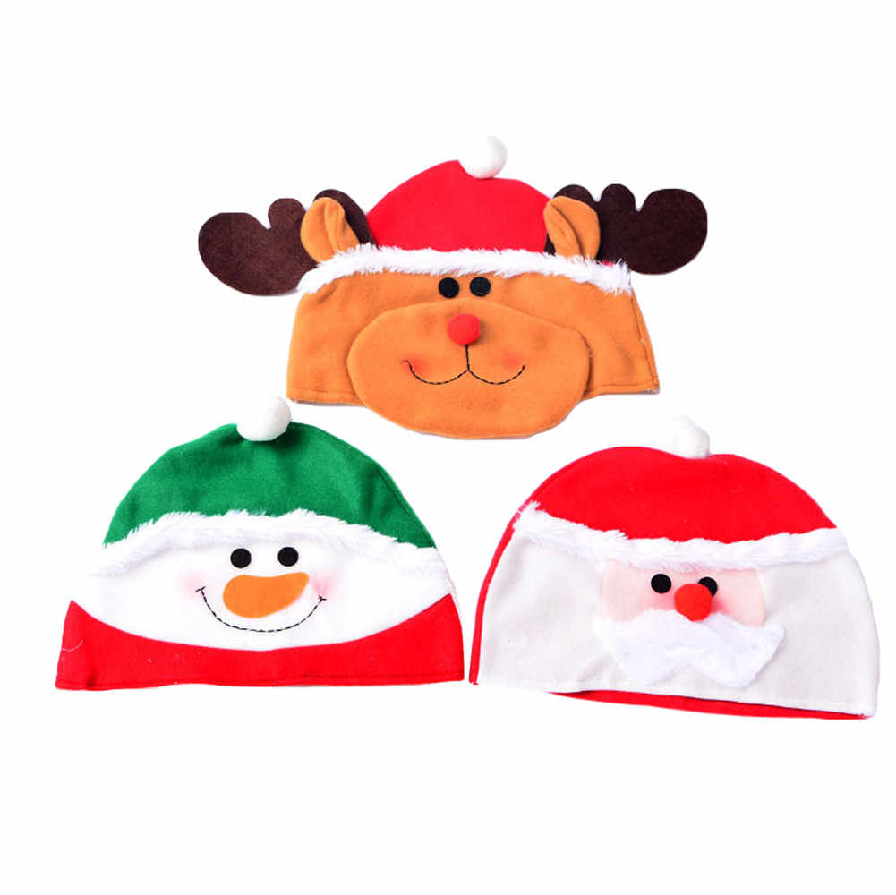 Anak-anak Dewasa Kartun Bt21-bts Natal Hadiah untuk Produk Natal Santa Claus Ornamen Santa Topi Dekorasi 45