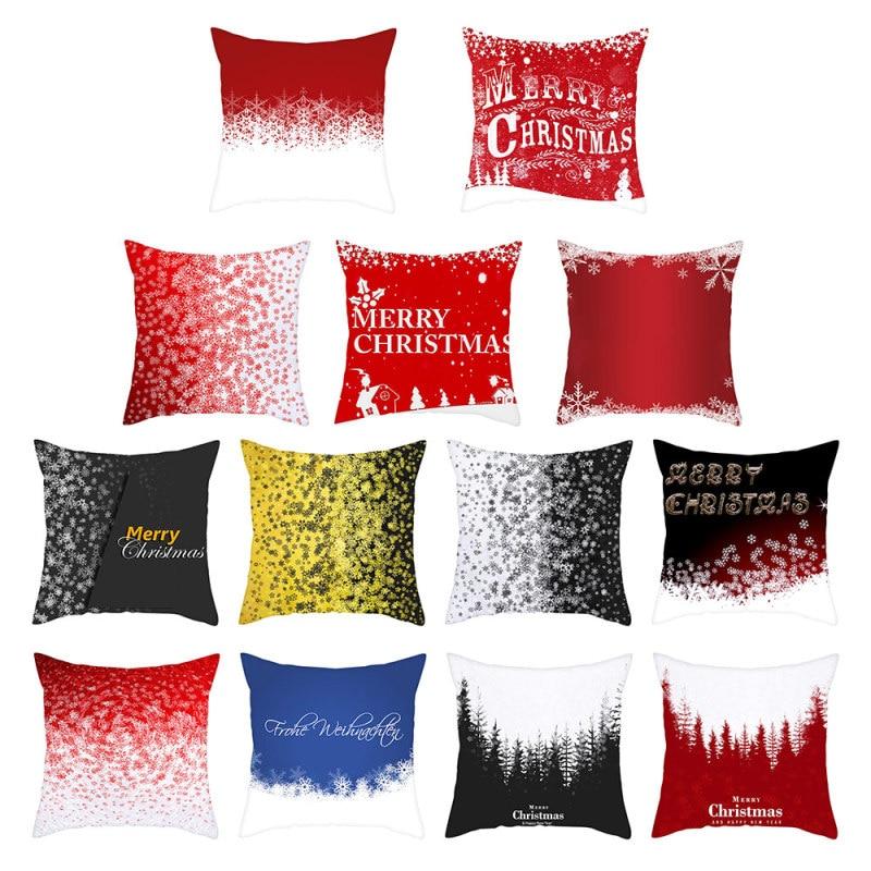 Купить наволочка для подушки nanacoba red merry christmas рождественский