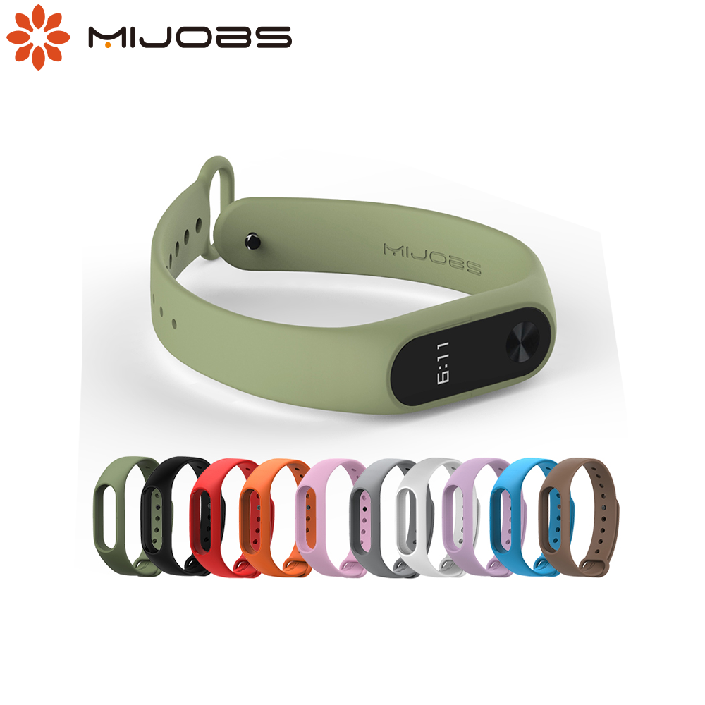 Mijobs Mi band <font><b>2</b></font> Strap Bracelet Silicone Wrist Strap Smart Watch Accessories for <font><b>Xiaomi</b></font> Mi Band <font><b>2</b></font> Strap <font><b>Correa</b></font> <font><b>Miband</b></font> <font><b>2</b></font> strap image