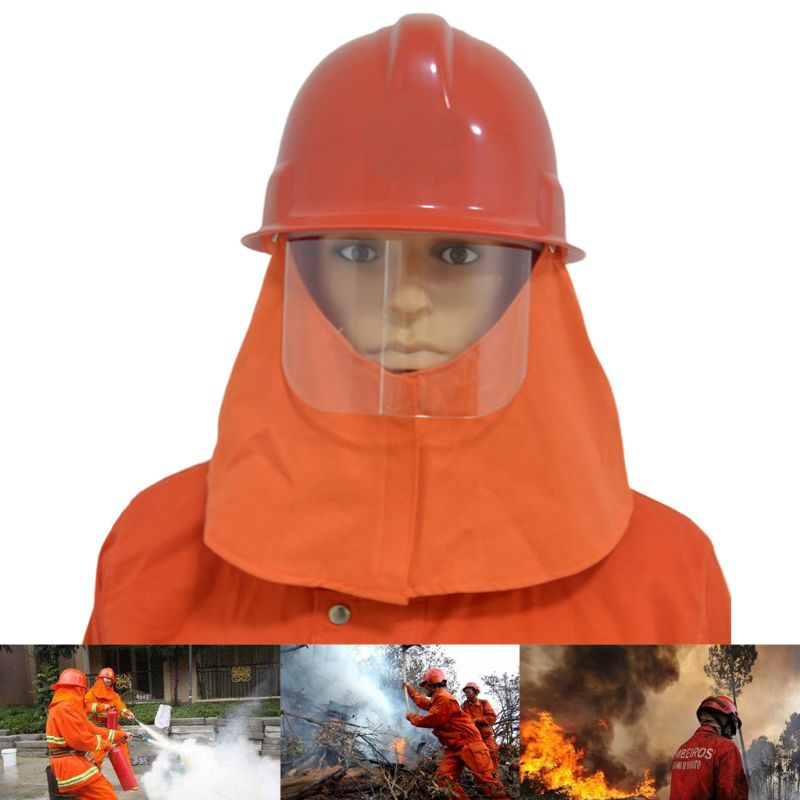 Rescue Helmet Fire Fighter Helm Protective Safety Cap Glasses CAPF Hat