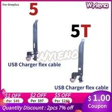 Wyieno Voor Oneplus 5 5T Charger Port Board Usb Opladen Connector Flex Kabel Microfoon Mic Plug Vervangende Onderdelen + tracking