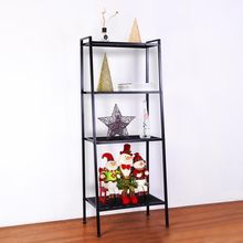 4-Tier Storage Ladder Bookcase Metal Display Leaning Shelf Bookshelf Home Office