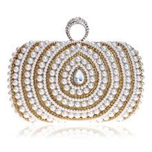 Женская вечерняя сумочка с жемчужинами и бриллиантами в полоску, украшенная стразами, клатч, кошелек, блестящий ручной работы, элегантные вечерние сумочки для банкета, для девушек