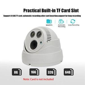 Image 5 - Cámara tipo domo de seguridad inteligente, dispositivo de visión nocturna a todo Color con movimiento activado, WiFi 1080P HD, CCTV de vigilancia interior, Audio bidireccional