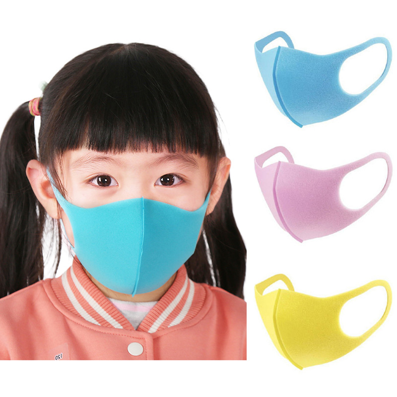 Face Masks For Kids Anti PM2.5 Dustproof Smoke Pollution Mask With Earloop Washable Respirator Children Masks