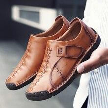 Новинка; Повседневная обувь; мужские кожаные роскошные дышащие мокасины; Лоферы высокого качества; мужская обувь на плоской подошве без застежки; удобная обувь