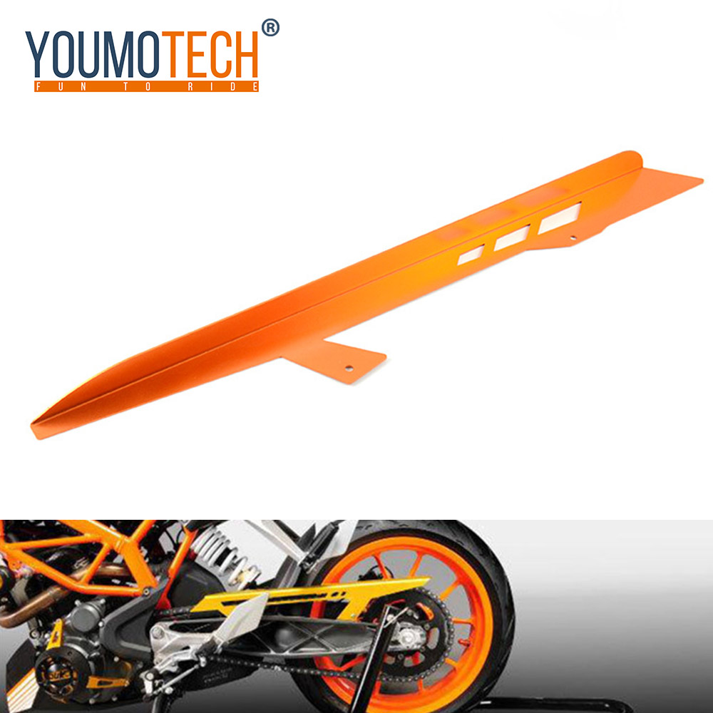 For KTM 125 200 390 Duke Motorcycle Chain Guard Cover Protector For KTM Duke 125 200 390 2011 - 2016 2015 2014 2013 Aluminum image