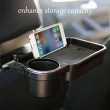 Car headrest cell phone beverage tray organizer multifunctional