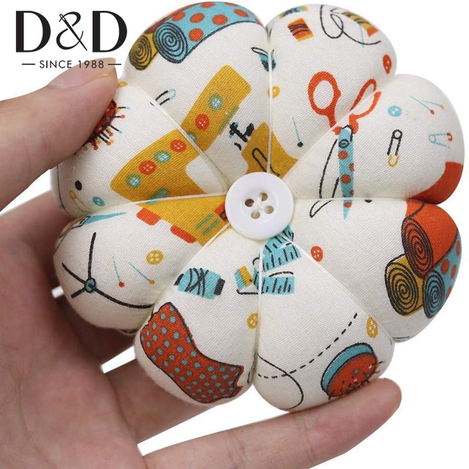 CHDHALTD Wrist Pin Cushion,Pumpkin Shape Wrist Pin Cushions,Pumpkin Needle Inserted Package Pin Pin Cushion,Needles Pincushions Holder Safety with Elastic Band