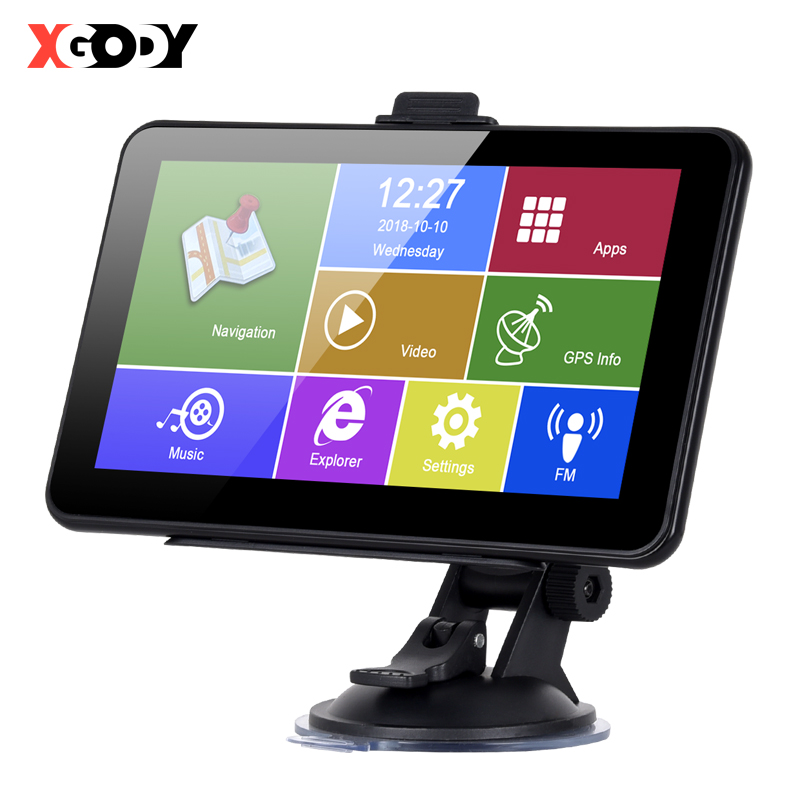 XGODY 7 Inch Car GPS Navigation Android 2 in 1 Tablet PC 16GB WiFi Bluetooth Auto GPS Car Navigator Sat Nav Navitel Europe Map