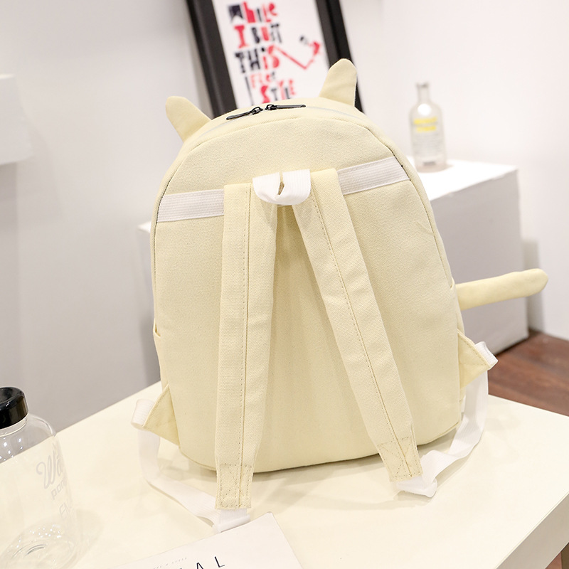 CHILDREN'S School Bags Japanese Korean-Style Yuan Su Wind Kitten Backpack Young STUDENT'S Backpack Comfortable Breathable Canvas