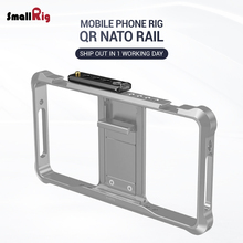 SmallRig Quick Release Mini Safety NATO Rail for Mobile Phone Cage Attach with Camera as Monitor Smart Phone Vlogging Rig 2395 аксессуар remax automatic screen attach machine for smart phone 101467st машинка для наклейки плёнок