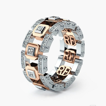 Two-Tone Stainless Steel Unisex Ring Products under $30 Rings 2ced06a52b7c24e002d45d: 10|6|7|8|9