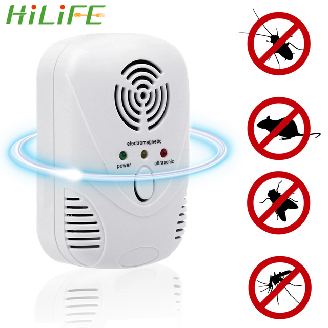 HILIFE  EU/US Plug Cockroach Trap Mouse Killer 110-240V/5W Electronic Ultrasonic Pest Control Repeller