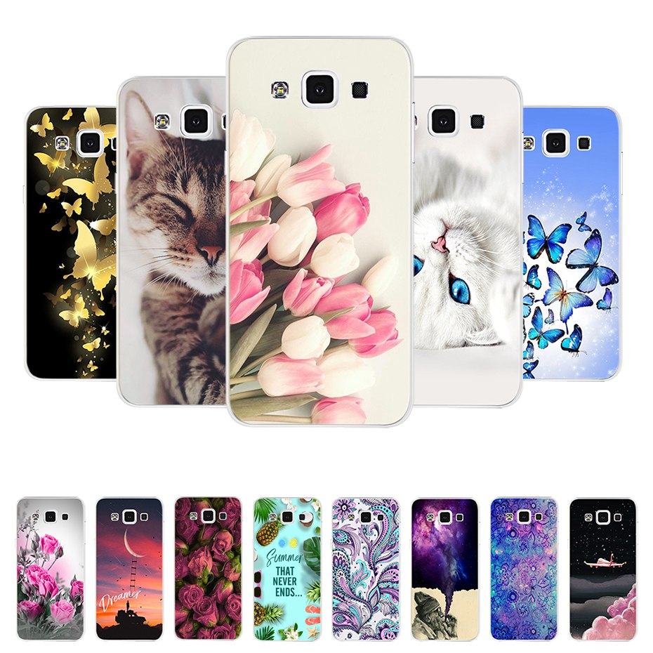 silicone case for Samsung Galaxy A5 2015 Phone Cases Silicon Soft Covers for Funda Samsung A5 2015 A500H A500F 5.0  Back Cover image
