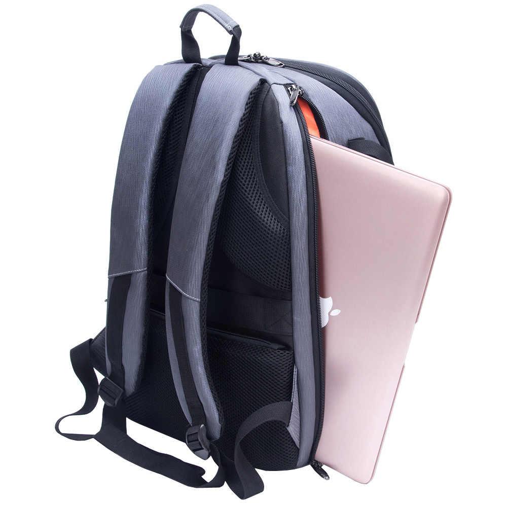 """Mochila de hombro de la foto impermeable de Nylon caso fit 15,6 """"Bolsa del ordenador portátil w puerto USB para Canon Nikon Sony SLR fotografía lente trípode"""